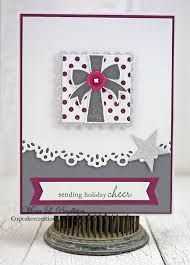 Today I'm joining along with the PTI Make It Monday challenge where the challenge is to create a card which features a glitter. Cheer Cupcakes, Christmas Cards, Ink, Create, Holiday, Challenge, Button, Image, Christmas Greetings Cards