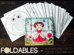 Foldables - Never-Ending Fun to Color, Fold and Flip - Hattifant