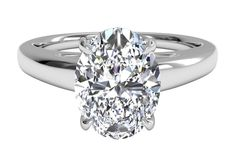 Oval Cut Solitaire Diamond Cathedral Engagement Ring in 14kt White Gold, by Ritani