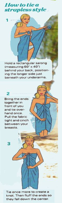How To Tie A Sarong More