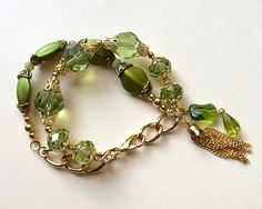 $15.00. PERIDOT BRACELET by MimiJewels on Etsy. Gorgeous and cannot believe this very reasonable price!! :)