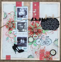 csi My Crafty Madness Heritage Scrapbook Pages, My Scrapbook, Scrapbook Layouts, Back In The Day, Gallery Wall, Presents, Sketches, Crafty, Frame