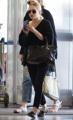 ASHLEY | BLACK ON BLACK | LAX AIRPORT -- Click to get the look...