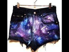 ★ DIY GALAXY SHORTS ★ - YouTube by the way does anyone know if you can use this same method on leggings ..?