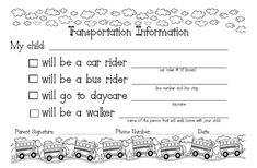 Transportation Info for students
