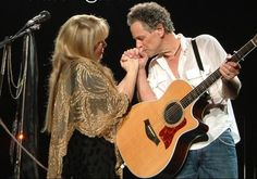 Stevie Nicks and Lindsey Buckingham - they kissed at the end of Silver Springs at the show I saw in AC. ☺