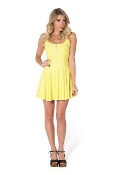 Matte Yellow Evil Zip Dress by Black Milk Clothing $80AUD ($75USD)