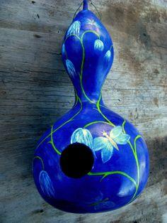 Beautiful Hand Purple Painted Birdhouse Gourd by ThePurpleManikin, $30.00