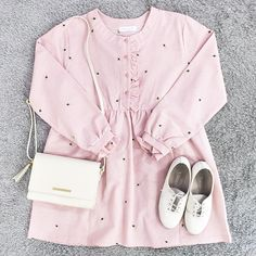 New fashion korean dress posts Ideas Pink Fashion, Cute Fashion, New Fashion, Trendy Fashion, Fashion Online, Fashion Outfits, Fashion Sets, Fashion Styles, Space Fashion
