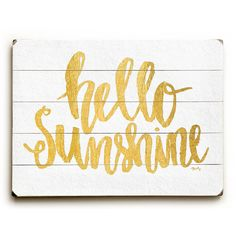 Varick Gallery Cooper Square Hello Sunshine Textual Art on Plaque Wall Décor Size: Wood Wall Decor, Wood Wall Art, Wall Décor, Wall Plaques, Wall Signs, Summer Signs, For Elise, Mothers Day Quotes, Hello Sunshine