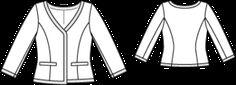 Schnittmuster: Kurzjacke - Druckknöpfe - Kurzjacken - Jacken - Damen - burda style