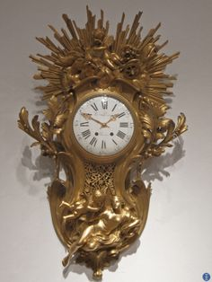 """""""All my possessions for a moment of time."""" - Elizabeth I (1533 - 1603) ...........  * A French Ormolu Cartel D'Applique. 20th century. 40½"""" high. Seen @ NYC. https://www.facebook.com/kristoferong"""