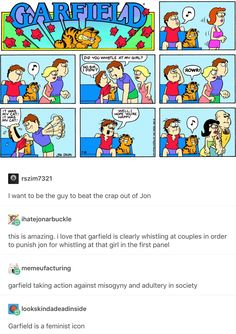 Garfield is a feminist icon xD