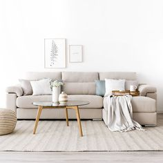 This particular sofa living room is seriously a formidable style technique. Scandi Living Room, Living Room Sofa Design, Living Room Furniture, Living Room Designs, Living Room Decor, Beige Sofa, Apartment Sofa, Sofa Colors, Minimalist Room