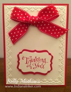 These are a couple of cards I created while playing with a couple of new stamp sets.      I used Stampin' Up!'s Real Red and Very Vanilla c...