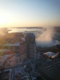 My view from the 49th floor of the Hilton Hotel in Niagara Falls, Canada