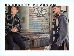 Mariano Ontañon and Trevor Signorino model fall fashions from Burberry for GQ México.
