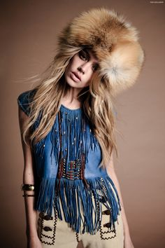 """Stoned Immaculate Vintage """"Return To Woodstock"""" by Bryan Rodner Carr with gorg Joanna Halpin. Here on BohemianDiesel. Hippie Style, Mode Hippie, Bohemian Mode, Boho Gypsy, Hippie Boho, Bohemian Style, Boho Chic, Fur Fashion, Fashion Photo"""