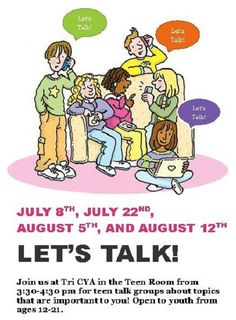 Sanctuary Project presents Let's Talk! Today, July 8th at Tri CYA Community Center