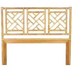 David Francis Chinese Chippendale Twin Headboard in Bamboo Finish DV-B4030-T-BM