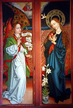 Martin Schongauer: Annunciation (Musée Unterlinden, Colmar, Alsace)