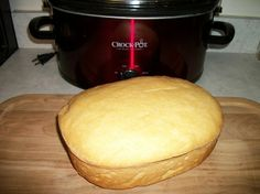 """Bread in a Crock Pot! Save on heating up your oven during the summer months."" (need to try this...)"