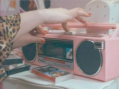 pink casette player