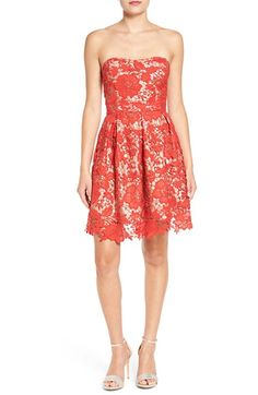 Free shipping and returns on Lush Lace Strapless Fit & Flare Dress at Nordstrom.com. Vibrant lace takes center stage on this party dress cut with a shoulder-baring strapless neckline and softly pleated skirt made for twirling.