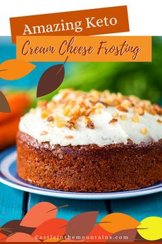 Guilt Free Keto Cream Cheese Frosting - Simple & 1 Net Carb Keto Cream, Guilt Free, Cream Cheese Frosting, Vanilla Cake, Low Carb Recipes, Good Food, Group, Simple, Awesome