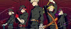 Boku no Hero Academia || Tetsutetsu Tetsutetsu, Kirishima Eijirou, Katsuki Bakugou, Kaminari Denki, Hitoshi Shinsou.