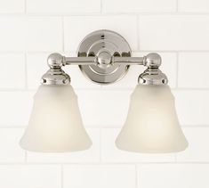 Sussex Sconce, Double, Polished Nickel finish