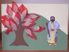 Kids Craft: Moses And The Burning Bush   HOOKED ON THE BOOK