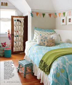 Girls room. Small space.