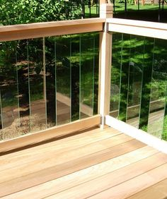 #Clearview Glass - The Clearview Glass panel system is offered in either a PVC or Cedar railing system. The Plastival #PVC Clearview railing system provides a stylish open look with low maintenance. The Rail Simple Cedar Clearview system offers clear unobstructed looks with the traditional wood railing.