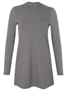 Gingham Long Sleeve Tunic