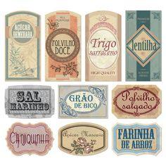 Organização cozinha: Etiquetas vintage para potes de alimentos