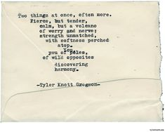 Typewriter Series #2242 by Tyler Knott Gregson
