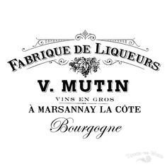 Water Decal Print transfer to furniture, wood or paper – French Vintage Advert: Fabrique de Liqueurs.   WHAT IS WATER SLIDE DECAL?    Water Decal is