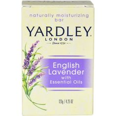 Yardley London, Bath Bar, English Lavender 4.25 oz (120 g) ** Special  product just for you. See it now! : Skin care