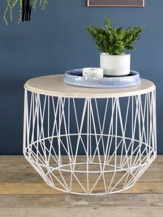 The Marble Wire Basket Table is brought to you by design house Bloomingville. This unusual coffee table is excellent choice to compliment any room.