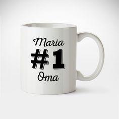 Tolle Tasse für eine tolle Oma? Unsere personalisierte Tasse #1 Oma spielt da ganz vorne mit. Garantiert das Lächeln zur gemütlichen Teestunde.