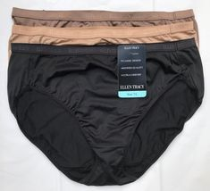 63cedd9323fc 3 PAIR ELLEN TRACY HI CUT BRIEF PANTIES SIZE 7 LARGE NWT 51209 #EllenTracy #