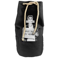 Karset Jastin Bieber Vertical Bucket Cylindrical Shaped Canvas Beam Port Drawstring Sports Basketball Shoulders Backpack Bags ** Be sure to check out this helpful article. #GymBags