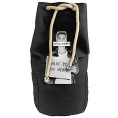 Karset Jastin Bieber Vertical Bucket Cylindrical Shaped Canvas Beam Port Drawstring Sports Basketball Shoulders Backpack Bags
