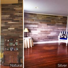 We love to see our reclaimed wood in your home! Here is a look at one of our Weekend Walls all-stars and the beautiful new walls in her charming farmhouse 😍♻ #weekendwalls #reclaimedwood #farmhouse #diy #diyhomedecor #woodpaneling #woodwall