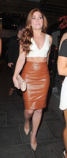 7 Best Nikki Sanderson Images Fashion Celebs Leather Skirt