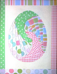 Easter Egg Iris Fold Card Iris Folding Templates, Iris Paper Folding, Paper Folding Crafts, Iris Folding Pattern, Origami Quilt Patterns, Card Patterns, Applique Patterns, Paper Cards, Folded Cards
