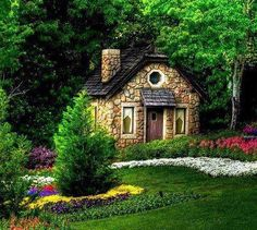 Small house home tiny cottages cabin stone cottage