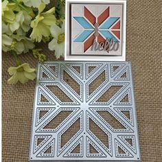 Diagonal fashion quilt back ground Metal Cutting Dies Stencil Scrapbooking Photo Album Card Paper Embossing Craft DIY