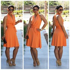 #DIY Peach Dress + Pattern Review B5886